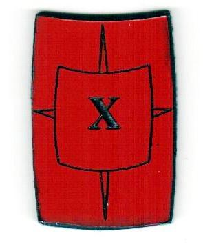 """Zahlenmarker Scuta """"10"""", rot"""