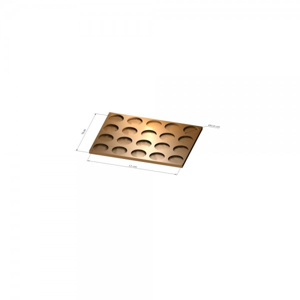 4x5 Tray 20 mm rund, 2mm