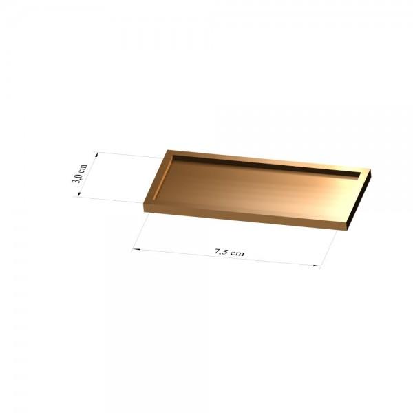 Tray 3 cm x 7,5 cm, 3mm