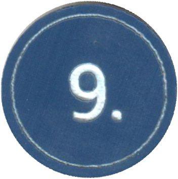"""Zahlenmarker rund """"9"""", blau"""