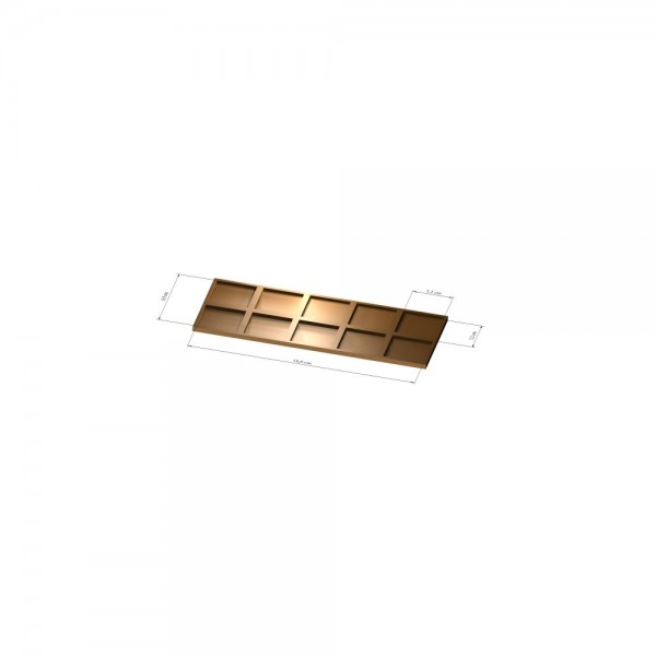 2x5 Tray 32 mm eckig, 3mm