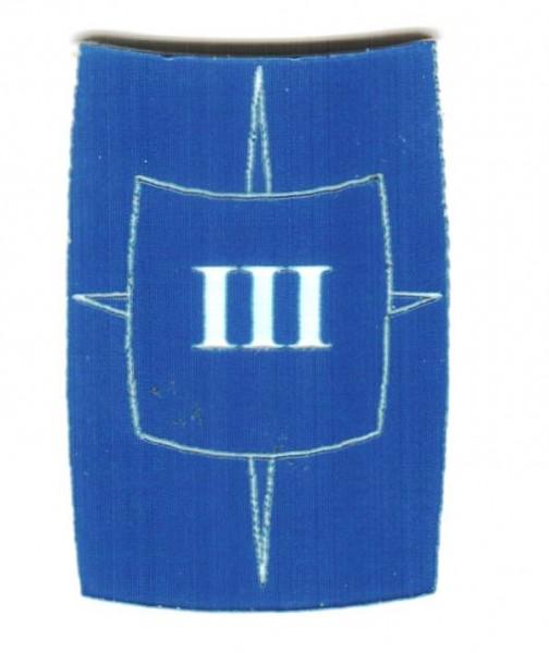 "Zahlenmarker Scuta ""3"", blau"