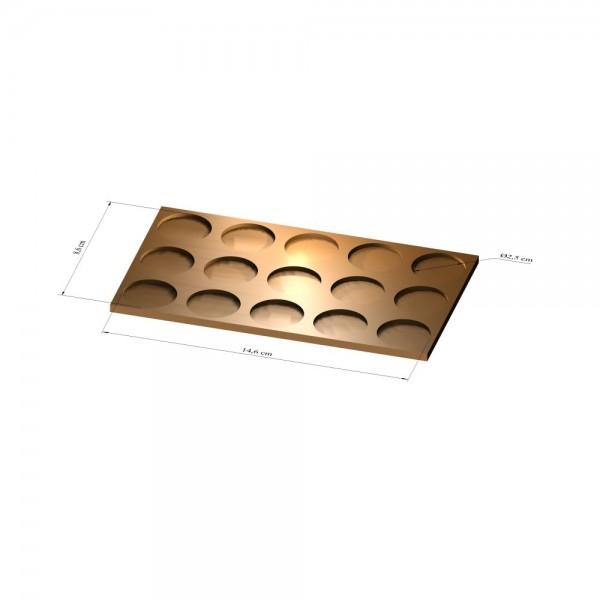 3x5 Tray 25 mm rund, 2mm