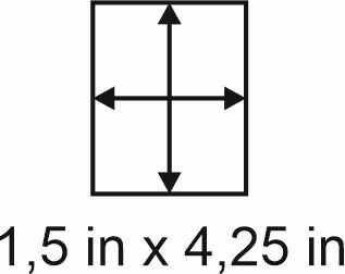 2mm zöllige Holzbase 1,5 x 4,25
