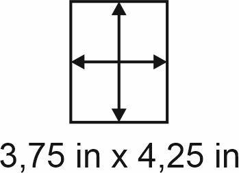 3mm zöllige Holzbase 3,75 x 4,25