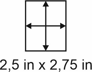 3mm zöllige Holzbase 2,5 x 2,75