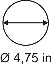 3mm zöllige Rundbase ø 4,75