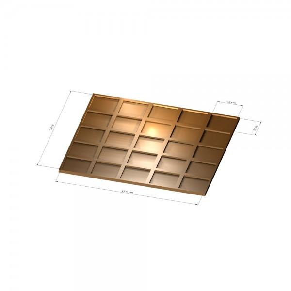 5x5 Tray 32 mm eckig, 3mm
