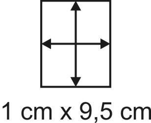 Eckbase 1x9,5 cm, 3mm dick