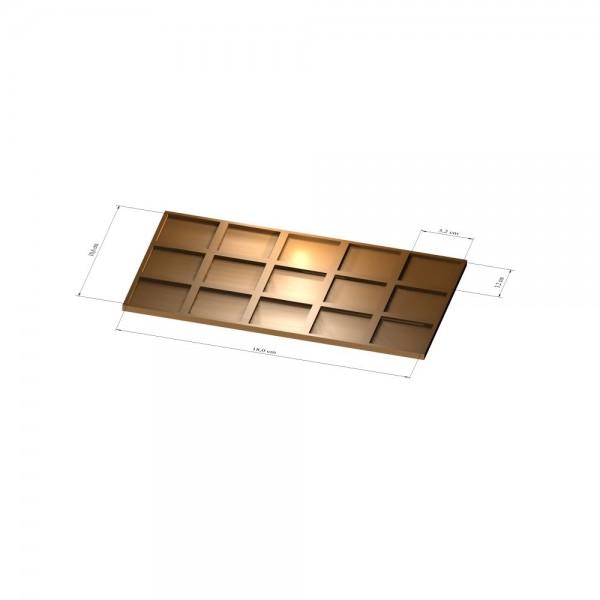 3x5 Tray 32 mm eckig, 3mm