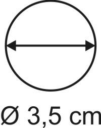 Tabletop Rundbase 3,5 cm, 3mm