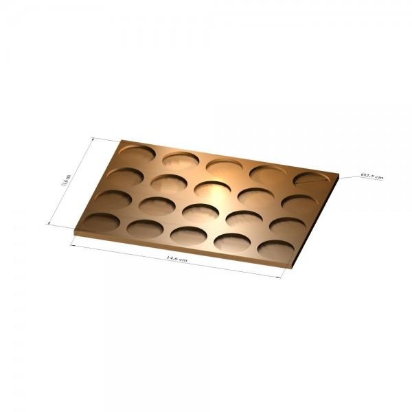 4x5 Tray 25 mm rund, 2mm