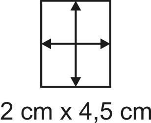Eckbase 2x4,5 cm, 3mm dick
