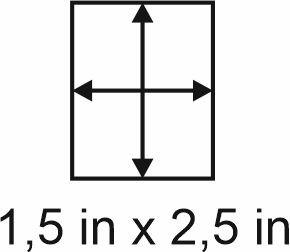 3mm zöllige Holzbase 1,5 x2,5