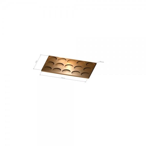 3x5 Tray 32 mm rund, 3mm