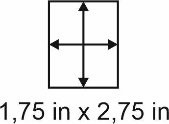 3mm zöllige Holzbase 1,75 x 2,75