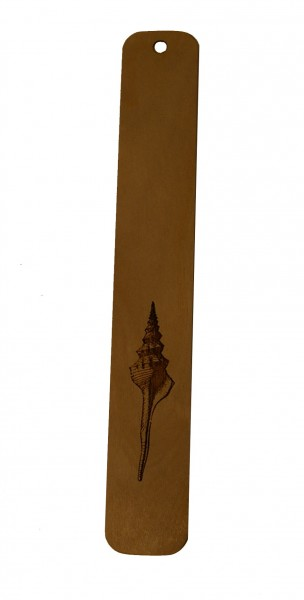 Lesezeichen Muschel aus Holz