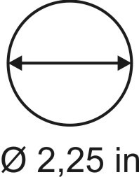 2mm zöllige Rundbase ø 2,25