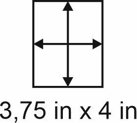 2mm zöllige Holzbase 3,75 x 4