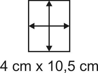 Eckbase 4x10,5 cm, 3mm dick