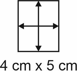 Eckbase 4x5 cm, 3mm dick
