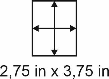 2mm zöllige Holzbase 2,75 x 3,75