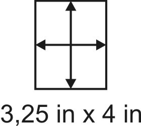 2mm zöllige Holzbase 3,25 x 4