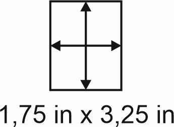 3mm zöllige Holzbase 1,75 x3,25