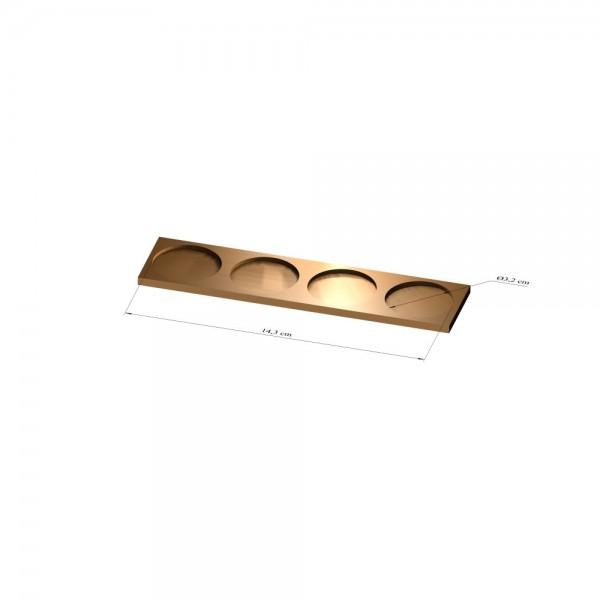 1x4 Tray 32 mm rund, 3mm