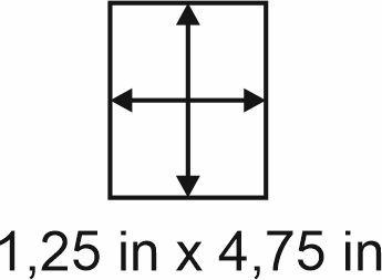 3mm zöllige Holzbase 1,25 x 4,75