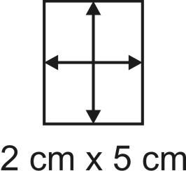 Eckbase 2x5 cm, 3mm dick