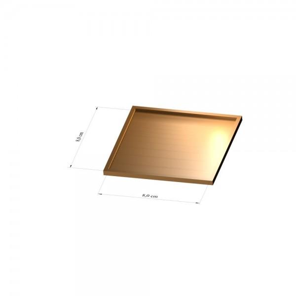 Tray 8 cm x 8 cm, 3mm