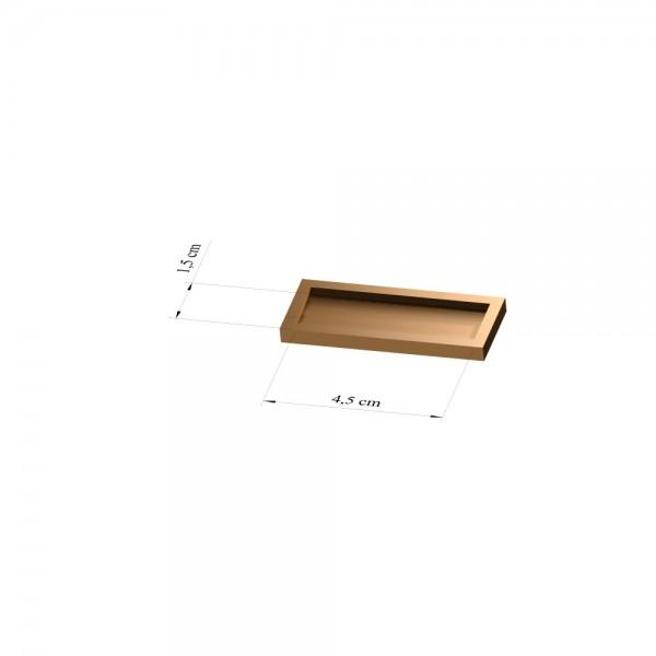Tray 1,5 cm x 4,5 cm, 3mm