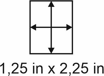 3mm zöllige Holzbase 1,25 x 2,25