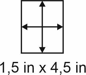 3mm zöllige Holzbase 1,5 x 4,5