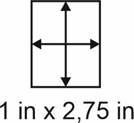 3mm zöllige Holzbase 1 x2,75