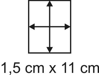 Eckbase 1,5x11 cm, 3mm dick