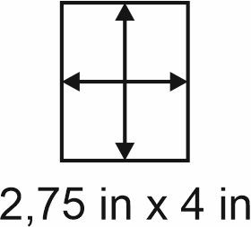 2mm zöllige Holzbase 2,75 x 4