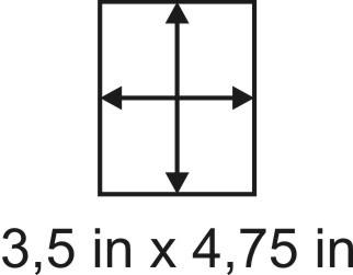 2mm zöllige Holzbase 3,5 x 4,75