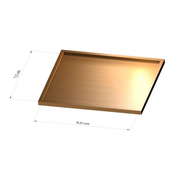 Tray 7,5 cm x 9 cm, 3mm