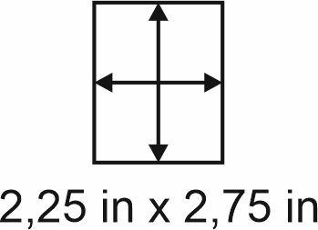 3mm zöllige Holzbase 2,25 x 2,75