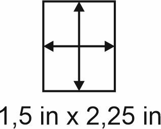 2mm zöllige Holzbase 1,5 x 2,25