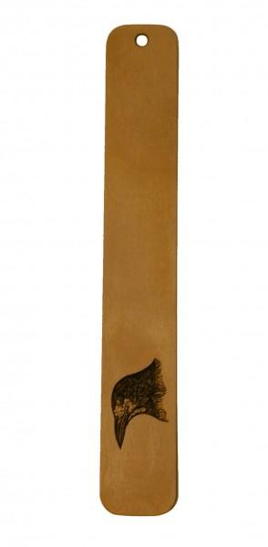 Lesezeichen Rabe aus Holz