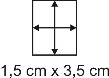 Eckbase 1,5x3,5 cm, 3mm dick