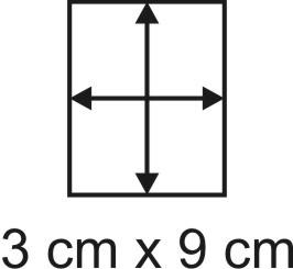 Eckbase 3x9 cm, 3mm dick