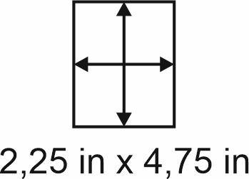 3mm zöllige Holzbase 2,25 x 4,75