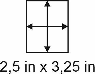 3mm zöllige Holzbase 2,5 x 3,25