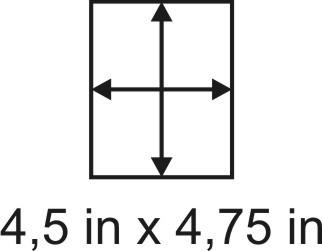 2mm zöllige Holzbase 4,5 x 4,75