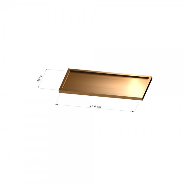 Tray 4 cm x 10 cm, 3mm