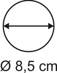 Tabletop Rundbase 8,5 cm, 2mm